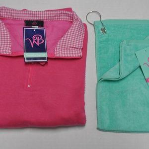 Golfer Gift Set Pullover & Golf Towel Women's S XL